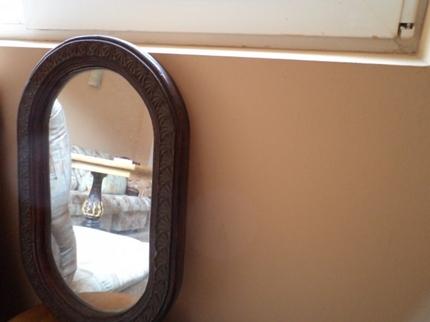 Фото напротив зеркала